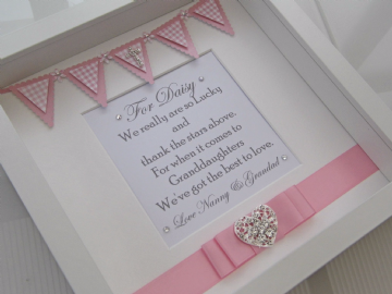 Granddaughter Christening Gift Frame